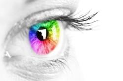 Eye seeing color